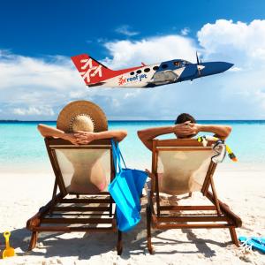 Beach getaway punta cana airplane reefjet