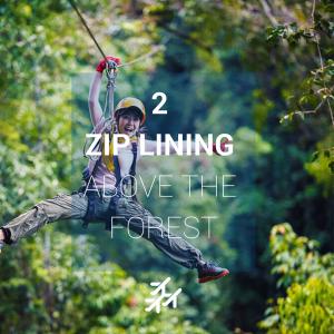 Person doing zipline